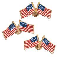 Double Usa Flag Clutch Pins (6 Dozen) - Bulk