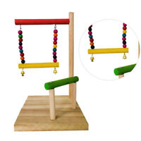 Wood Toy Bird Playground Birdcage Playstand Parrot Play Swing Parakeet Cage