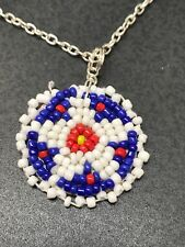 Native American Vintage Hand Beaded Charms Star D917