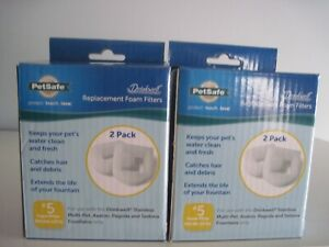 PETSAFE DRINKWELL REPLACEMENT FOAM FILTERS #5 PAC00-13711 2 PACKS