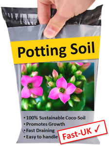 Plant Potting Compost - 100% Sustainable Bricks of Fresh Soil 1-22 Litres