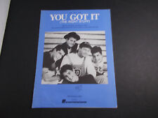 * New Kids On The Block-You Got It -Sheet Music -unused store stock