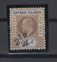 C2762/ BRITISH CAYMAN – SG # 35 MINT MH CERTIFICATE – CV 2190 $