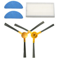 Side Brush + HEPA Filter + Duster Mop Cloth for Proscenic 800T Vacuum Cleaner BS