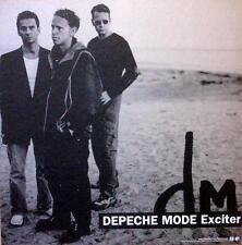 DEPECHE MODE MARVELOUSLY RARE EXCITER ORIGINAL DS CD / LP COVER ART POSTER