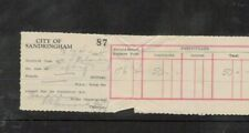 Australia 1934 City of SANDRINGHAM Victoria RECEIPT