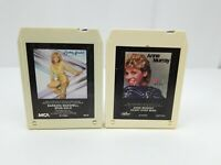 Country Music 8 Track Tapes Lot of 2 Barbara Mandrell Spun Gold & Anne Murray