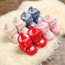 Newborn Gift Smile Pig Baby Boy Girl Crib Shoes Infant Winter Booties Warm Boots