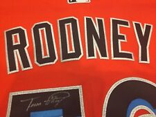 FERNANDO RODNEY SZ 48 #56 Miami Marlins Game Issued Signed Authentic Jersey MLB