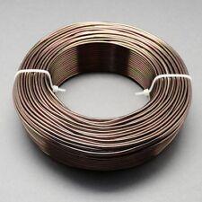 2mm Aluminio Craft floristería Alambre Fabricación De Joyas Marrón Oscuro Camel 3m longitudes