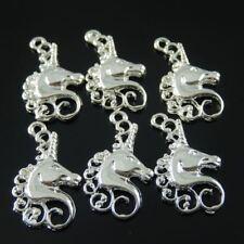 10pcs Vintage Silver Tone Alloy Horse Head Pendant Charms Accessories wholesale