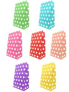 5/10/15/20 Stand Up Flat Bottom Polka Dot Party Birthday Sweet Favour Treat Bags