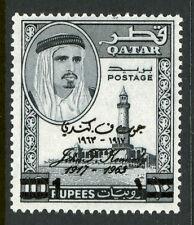 Qatar Scott 111B Mint JFK Kennedy Memorial Surcharge Never Hinged 6G13 15