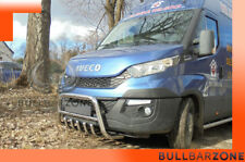 IVECO DAILY VI 2014+ PARE-BUFFLE BAS AVEC GRILLE DE PROTECTION CARTER EN INOX