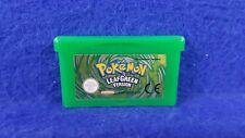 Gameboy Advance **POKEMON Leaf Green Version Genuine CART Working Save PAL GBA
