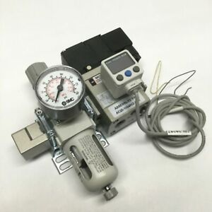 SMC AW20-N02-CZ Filter/Regulator NAV2000-N02-5DZ Start-Up Valve, Digital Switch