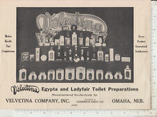 A759 Velvetina Co. Egypta & Ladyfair toilet products tooth paste flier Omaha, NB