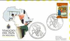544- FDC VATICAN VISITE PAPE JEAN PAUL II   AU  NIGERIA