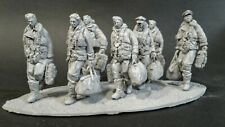 AC Models RAF Lancaster Crew 7 figures + base WW2 1/32nd Unpainted kit