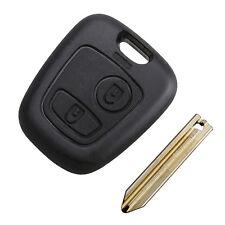 Carcasa llave en blanco mando 2 botones Para Citröen Saxo Xsara Picasso Berlingo