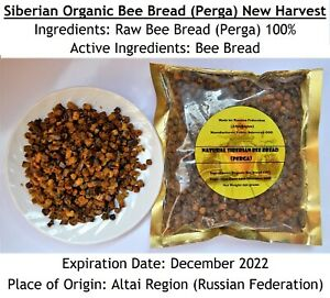 WHOLESALE BULK 5.5 Lb (2.5 Kgs) SIBERIAN Bee Bread Organic 2021 FRESH Harvest