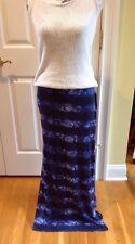 Michael Kors Azure Navy Blue Snake Skin Design Maxi Skirt Size Medium