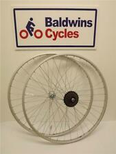 700c PAIR NARROW HYBRID / ROAD Bike / Cycle Wheels + 5 SPEED FREEWHEEL