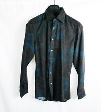 GUCCI Floral Button Up Dress Shirt Casual Fitted Slim Rare 40 15 3/4 S M L New