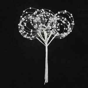 PEARL LOOP SPRAY X 12 STEMS  IDEAL FOR CRAFTS, WEDDING FLOWERS, BOUQUETS