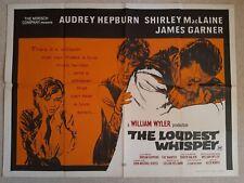Original The Loudest Whisper Cinema Film Movie Quad Poster Audrey Hepburn