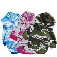 Dog Pet Clothes Hoodie Warm Sweater Puppy Coat Apparel Camouflage Pet Clothes