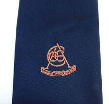 Cacc ACCC Logo Tie Latin Motto Solum Deo VINTAGE 1970 S Company Scuola College