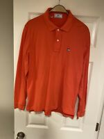Southern Tide The SkipJack Polo Shirt Long Sleeve Men Size M Red Magenta Logo
