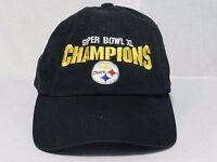 Pittsburgh Steelers Super Bowl XL Champions Black Adjustable Cap Hat Football NF