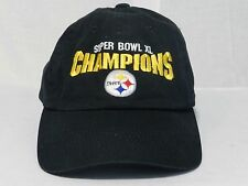 Pittsburgh Steelers Super Bowl XL Champions Black Adjustable Cap Hat Football NF