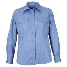 Women's 5.11 TACTICAL Taclite PDU Uniform Long Sleeve Shirt ~ Navy Blue White