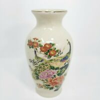 Vintage Japanese Satsuma Vase Hand Decorated and Signed