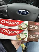 Colgate Natural Extracts Toothpaste 75ml Coconut Extracts with Ginger Oil 2x