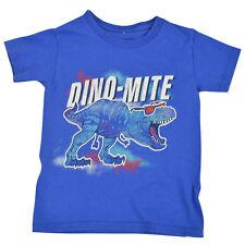 Dino-Mite Toddler Boy Blue Short-Sleeve T-Shirt No Size 3T