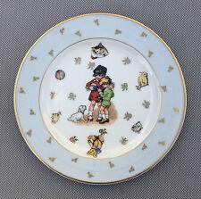 Ancienne petite assiette LIMOGES dessins naïf déco vintage french antique