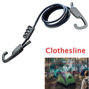 1 Pcs Vehicle-mounted Drying Elastic Hanging Rope Travel Tension Line Hooks Belt