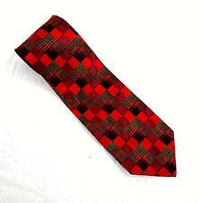 Mens Tie Red Neno Italy 100% Silk