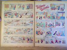 D420 Lot Of 6 Winnie Winkle  / Joe Palooka 1932 Tabloid Vintage Comic Strips