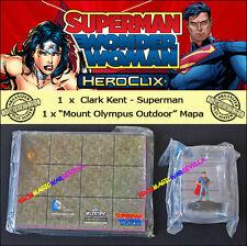DC HEROCLIX SUPERMAN / WONDER WOMAN OP KIT Clark Kent (Superman) + Mount Olympus