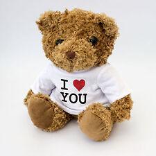 NOUVEAU I LOVE YOU Mignon & à câliner Ours En Peluche Romantique Cadeau