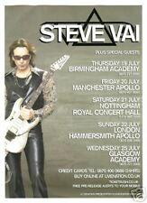 Steve Vai 2007 England Playbill! Uk Tour Dates