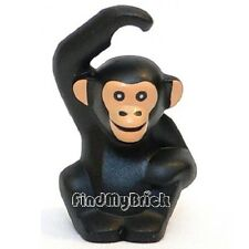 N112A Lego Minifigure Animal Chimpanzee / Monkey - Black 8805 8831 NEW