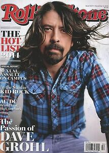 LN Rolling Stone Magazine Dave Grohl Foo Fighters 2014 USA Edition No Label