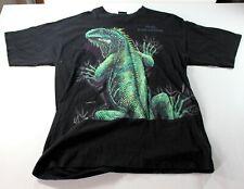 Aruba Dutch Caribbean 2 sided lizard graphic men's black t-shirt habitat Xl