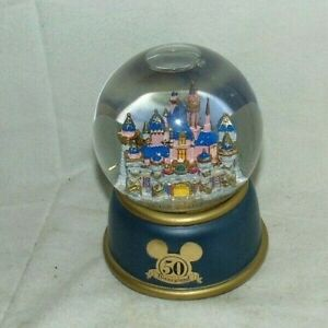 Disneyland Snow Globe Castle 50 Year Anniversary